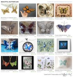 BEAUTIFUL BUTTERFLIES ModernClassicbyCarol has our #butterfly #pillow! http://etsy.me/1KIoNxe #Etsy #treasury