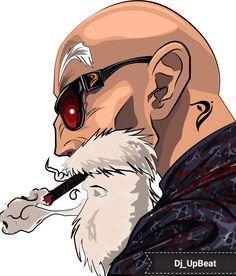 El Maestro Roshi Dope Cartoon Art, Cartoon Kunst, Graffiti Characters, Graffiti Drawing, Hip Hop Art, Samurai Art, Dragon Ball Z, Comic Art, Pop Art