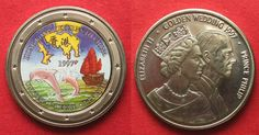 1997 England UK 25 Euro 1997 Map HONG KONG RETURNS TO CHINA / GOLDEN WEDDING Cu-Ni # 94609 BU (MS65-70)