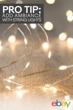 Brighten up any space with these battery-powered LED String Copper Wire Fairy Lights. The waterproof design makes them a great option for the indoors and outdoors, so get creative! Bend the lights to any shape and set the mood with steady or twinkling lights. They work for up to 50,000 hours, so you'll never be in the dark. Perfect for bedrooms, home bars, patios and porches, birthday parties, and more. Find more twinkle lights and decorations on eBay.