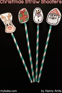 Christmas activity for kids - make these straw shooters and have fun trying to see how far they can go or if you can hit things with them. Christmas Activities For Kids, Activities To Do, Christmas Crafts, Paper Straws, Rainbows, Have Fun, Craft Ideas, How To Make, Christmas Activities For Children