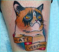 Angry-Cat-hate-everything-tattoo-5.jpg (587×526)