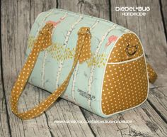 "Three different sizes (10.5"", 12"" and 14"" wide). Removable crossbody strap. Blanche Barrel bag pattern $5.95"