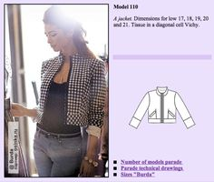 Sew Your Kibbe: Gamine – Doctor T Designs Gamine Style, Technical Drawing, Contrast, Sewing, Kappor, Model, Pattern, Jackets, Outline