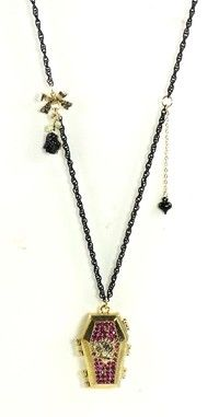 Betsey Johnson Jewelry Enchanted Forest Coffin Necklace