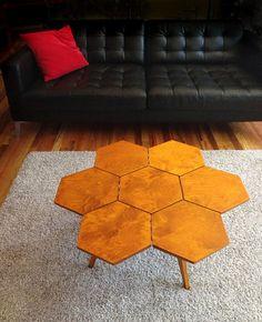 дипломная работа авторский деревянный журнальный столик бук  honeycomb coffee table