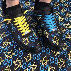 Behind The Scenes By vandythepink Gucci Sweatshirt, Custom Air Force 1, Steve Austin, Custom Sneakers, Yeezy, Behind The Scenes, Hiking Boots, Nike Shoes, Street Wear
