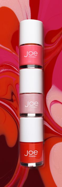 Joe Fresh Beauty, Nail Polishes.   Make your nails an art project.