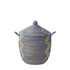 Senegalese Storage Baskets - Blue | Serena & Lily