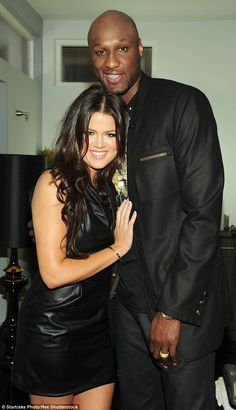 Once a happy couple:While it isn't yet clear if Lamar has suffered any permanent damage, it's been confirmed that he has awoken from his coma and spoken to his estranged wife Khloe Kardashian, three days after he was found unconscious at a brothel