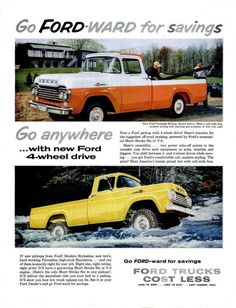 1957 Ford Truck F series pick up ad https://plus.google.com/+JohnPruittMotorCompanyMurrayville/posts