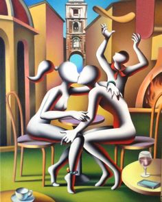 Mark Kostabi Mark Kostabi, Tamara Lempicka, Surreal Art, Paint Designs, Contemporary Artists, Fine Art Paper, Art Images, Painters, Kisses