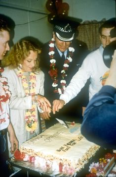 The opening of Food for Life in Brisbane, Australia in 1991. We had the chief of Police and Hollywood actress, Hayley Mills to cut the cake.