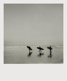 Surf Trio. Cromer, Norfolk. | Paul Greeves. Polaroid. Ocean life. Beach life.