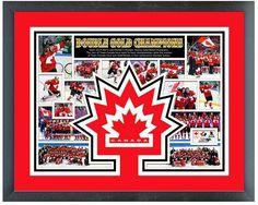 Team Canada Men's an Women's 2014 Winter Olympics Gold Medal Winners 11 x 14 Frame Milestones and Memories