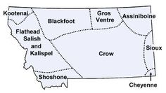 Information on the Native American tribes of Montana, with maps, reservation addresses, classroom activities and recommended history books.