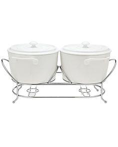 Rue La La — La Cucina 2qt Double Ceramic Warmer