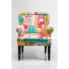 es: Butaca Frame Patchwork - Butacas Vintage - Muebles Vintage Love this chair! Deco Furniture, Funky Furniture, Living Furniture, Patchwork Sofa, Kare Design, Diy Interior, Cool Chairs, Home Furnishings, Home Decor