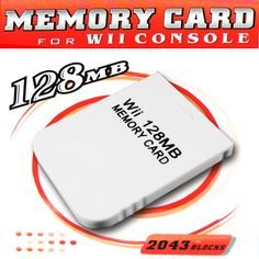128 MB Memory Card For Nintento Wii Gamecube  Specifications: 1. 100% New ... 2. High quality generic (non-OEM) 128mb MEMORY CARD 128 mb for Nintendo 3. Gamecube GC WII 4. Compitable For Nintendo Wii 5. Could be use on both Wii & Gamecube console 6. High speed and efficiency product 7. Easy to use and Quality assures 8. Real 2043 Blocks Non-compress 9. Compatible with:Nintento Wii/Game Cube Package Included: 1 x 128 MB Memory Card  EUR 5.61  Meer informatie