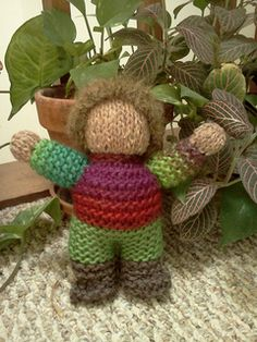 A cuddly little doll for a young child. I designed these as birthday gifts for my Waldorf Nursery students.