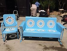 Antique Wrought Iron Garden Furniture Sun Room Patio Set