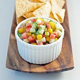 Watermelon Mango Salsa Recipe- amazing with fish!