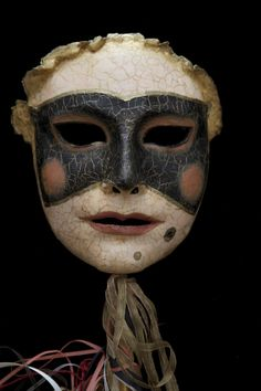 La Dama handheld mask by TheArtOfTheMask on Etsy.