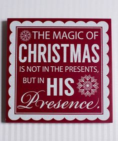 Look what I found on #zulily! 'Magic of Christmas' Wall Sign by Adams & Co. #zulilyfinds