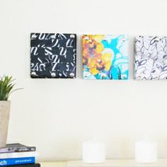 Create custom wall art from shoebox lids and old magazines with this simple tutorial