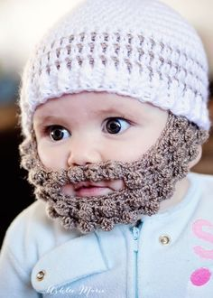 bearded infants are adorable and this free pattern, in multiple sizes is easy to make