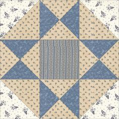 May 7 Swamp Angel. Today's block, Swamp Angel, was named by Nancy Cabot in the… Patchwork Patterns, Quilt Block Patterns, Pattern Blocks, Quilt Blocks, Quilting Projects, Quilting Designs, Sewing Projects, Blue Quilts, Small Quilts