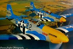 P 51 Mustangs of John Dilly and Dean Cutshall. I shoot this photo from Dean Cutshall's Cesna 310