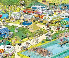 Jan van Haasteren: Camping Chaos (300 stukjes)