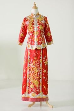 Chinese traditional Red dress
