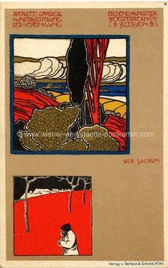 ¤ Litho Ver Sacrum # 2 Adolf Böhm 1898