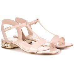 Nicholas Kirkwood Casati Embellished Patent Leather Sandals (37.375 RUB) ❤ liked on Polyvore featuring shoes, sandals, neutrals, nicholas kirkwood sandals, pink patent shoes, pink patent leather sandals, decorating shoes and nicholas kirkwood shoes
