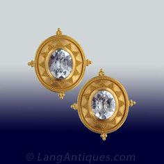 Aquamarine Gold Carolyn Tyler Earrings
