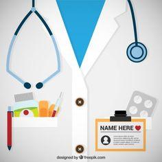 Plantilla de tarjeta de médico Vector Gratis