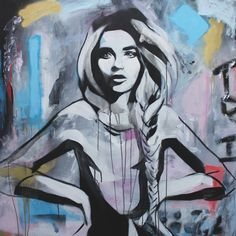 Natural, Beautiful & Strong: Urban street art portraits of tranquil female characters by Hannah Adamaszek