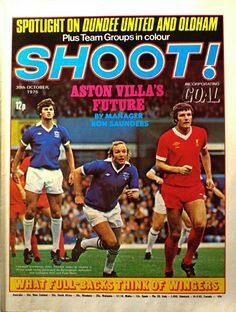 Shoot! magazine in Oct 1976 featuring Birmingham City v Liverpool on the cover.