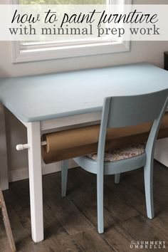 Let me show you how to paint furniture with minimal prep work. It'll only take a few simple steps!