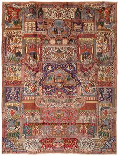 Kashmar pictorial rug AZXA391