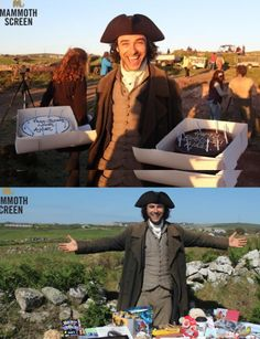 Aidan Turner's 31st birthday on Poldark set 19.6.14