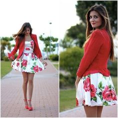 Image via We Heart It https://weheartit.com/entry/151710568 #blazer #fashion #floraldress #highheels #outfits #style