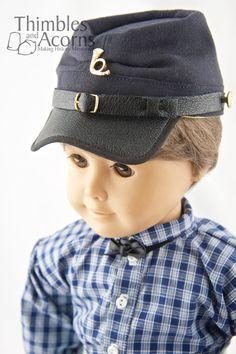 Thimbles and Acorns Civil War Kepi Hat Doll Clothes Pattern 18 inch American Girl Dolls | Pixie Faire