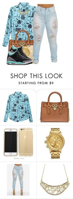 """""""Fresh Out Of Luck"""" by polyvoreitems5 ❤ liked on Polyvore featuring MICHAEL Michael Kors, Nixon and Charlotte Russe"""