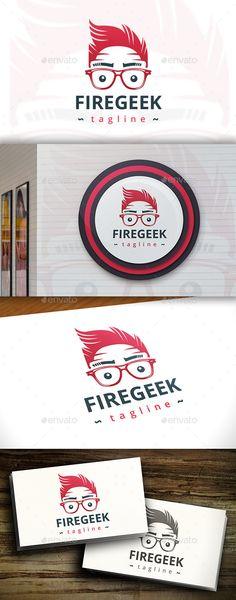 Geek Fire Logo Design Template Vector #logotype Download it here: http://graphicriver.net/item/geek-fire-logo/11433763?s_rank=1782?ref=nesto