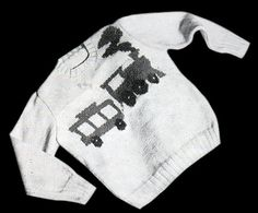 Chuff-Chuff Train Sweater/Jumper - free knitting pattern