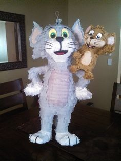 Tom and Jerry Pinata by SmashingFunCreations on Etsy