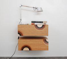 nightstands sospeso galleggiante cassetto di EbanisteriaCavallaro